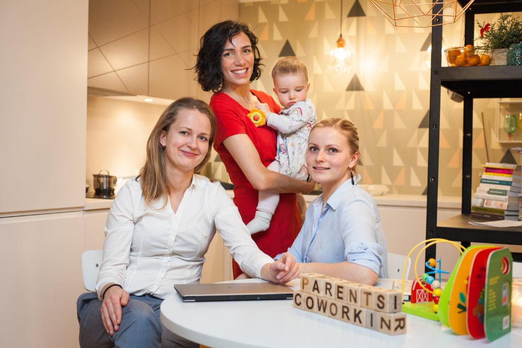 Parents Co-Working loob koostöötamiskeskuse lapsevanematele